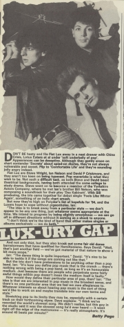 Record Mirror Interview 4/2/84