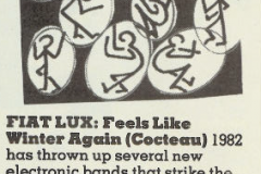 Feels Like Winter Review 9/12/82